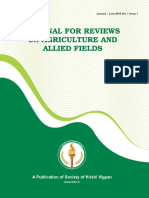 Journal for Reviews on agriculture and allied fields
