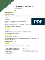 Vocal Technique Notes