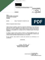 Oficio N°035-2018-MEM/DM