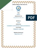 Tarea 1, Del Fundamento y Estructura Del Curriculum. YORLENY
