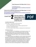 Framework for Marketing Management 6th Edition Kotler Solutions Manual