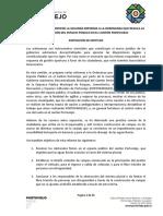 Ordenanza Que Contiene La Segunda Reforma a La Ordenanza Que Regula La Ocupacion Del Espacio Publico en El Canton Portoviejo