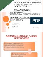 Seguridad Laboral y Salud Ocupacional