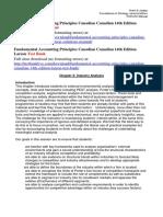 Fundamental Accounting Principles Canadian Canadian 14th Edition Larson Solutions Manual