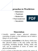 Western Approaches to Worldview