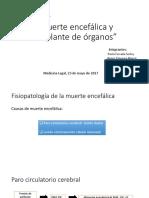 Muerte Encefalica y Transplante de Organos Tt