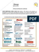 Brochure Kassel Group y Union Metrologica