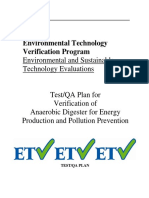 Test Plan for Verification of Anaerobic Digester Energy Production