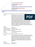 Foundations of Marketing 6th Edition Pride Test Bank