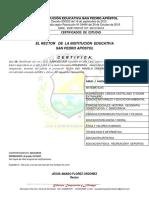 CERTIFICADO IESPA 2015