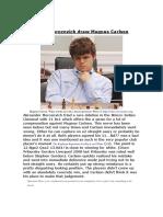 Alexander Morozevich Draw Magnus Carlsen