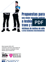 Libretillo «Propuestas para una mejor atención policial a LGTB», Oviedo 2017