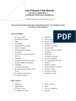 Listado de Estudiantes Que Participaran en Las Olimpiadas de Lectura y Ortografía
