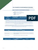 Perfil Competencia Ayudante de Mantenimiento Mecanico