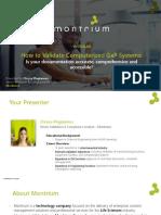 Webinar GxP System Validation