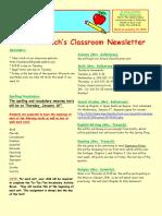 5th grade newsletter-week of 1