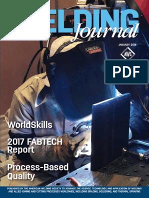 aws_wj_201801 pdf | Welding | Sanitation