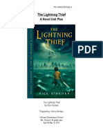 percy jackson and the lightnight thief unit plan - 4th grade