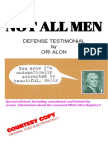 Not All Men Defense Statement by Ori Alon 2018 Alfassi Books