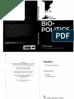 Lemke - Biopolitics