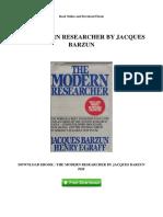 The Modern Researcher by Jacques Barzun