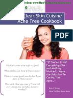 Clear Skin Cuisines Acne Recipe Cookbook