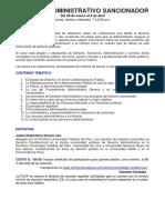 Syllabus Derecho Administrativo Sancionador Marzo 2016