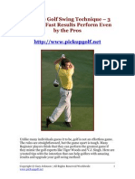 Improve Golf Swing Technique - 3 Tips for Fast Results Perform Even by the Pros