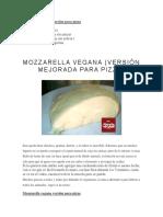 Mozzarella Vegana Versión Para Pizza