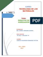 INFORME AGREGADOS - Tecnologia Del Concreto (Fernando Garcia)