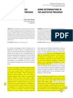 Las Determinaciones Genericas en Los Procesos Adaptativos