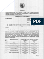 G O of Revised Pay Scales of Tamilnadu Highways Department
