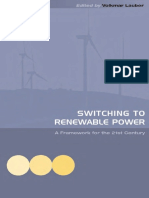 Switching to Renewable Power - A Framework for the 21st Century by Volkmar Lauber (2005)