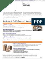 Tarifas Fedex Mx Es 2018