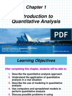 Introduction to Quatitative Analysis
