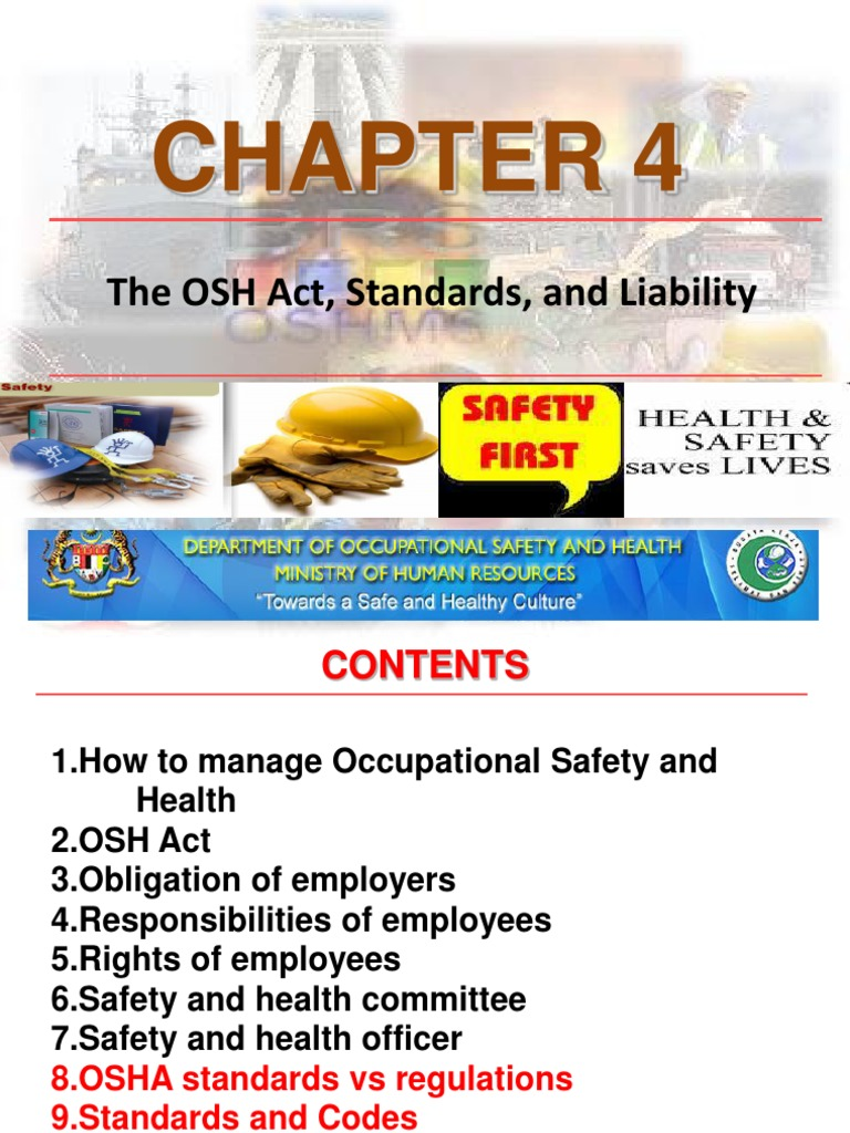 Chapter 4 - Osha Act Std Laibility -Zaizu   Occupational