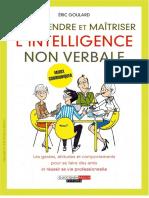 Comprendre Et Maitriser l'Intelligence Non Verbale