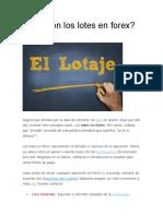 Lotaje Forex