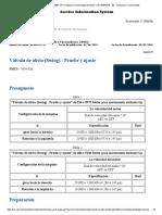 Valvula de Alivio (Giro) Ajuste