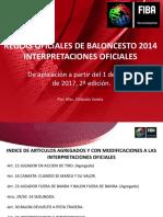 Actualización Arbitral Interpretaciones Oficiales 1ro Marzo 2017.