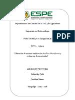 """""""Obtención de enzimas amilasas de Bacilllus licheniformis y evaluación de su actividad"""""""