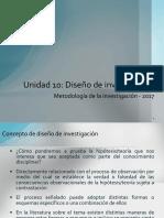 Unidad 10-UNDEF 2017 (Diseño de Investigación) v1