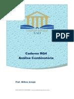 Caderno RQ4 Análise Combinatória