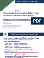 Gabungan Kebijakan Nasional SPM Dikti Dan SPMI 2017