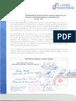 Acta Rendición de Cuentas Parcial La Paz 2017