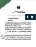 Reglamento de Organizacion y Funciones Del OEFA Autógrafa Vigente (1)