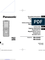 Panasonic RR XS450