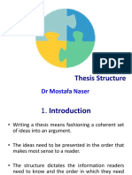 E2 Thesis Structure