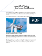 RE Power 5MW Main Shaft Bearing