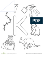 Coloring Learn Letter k